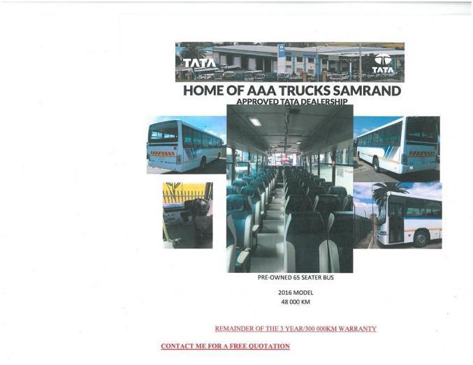 2016 Tata LPO 1823, 65 Seater Bus