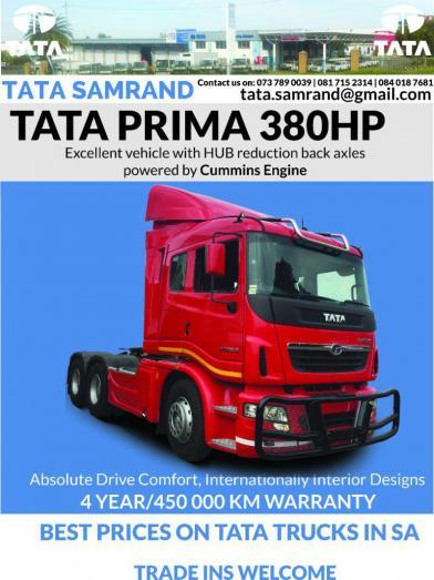 TATA Prima 4938 S 6x4 Truck Tractor Brand New 2017