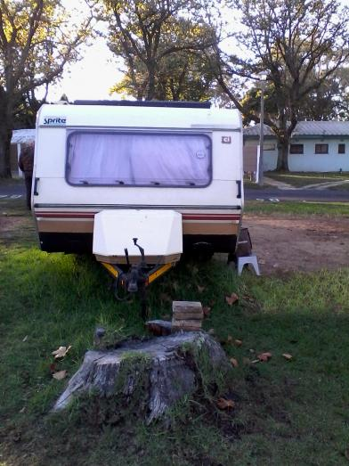 Caravan Sprite Sport - weighs 565kg - GVM 725kg. Light and easy to tow