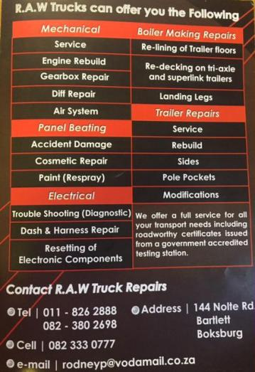 Time to save on Repairs and Maintenance on your Trucks and Trailers