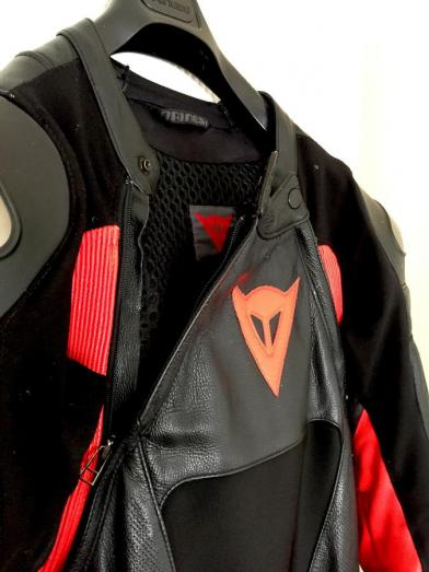 Used - Red/Black Dainese Leathers- Titanium  Leather Suite