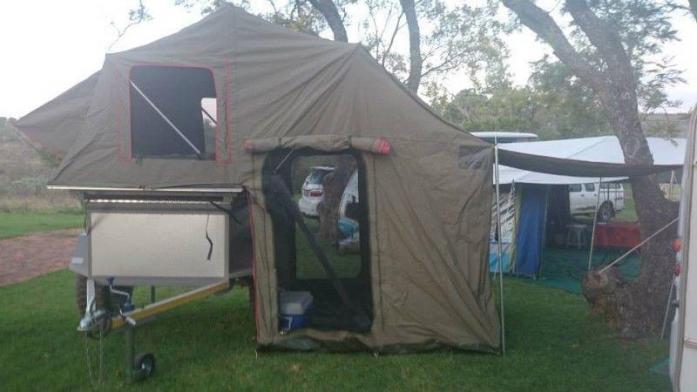BASIESE OFF-ROAD KAMPEER SLEEPWA met tent