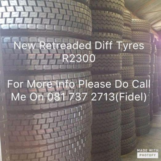 NEW RETREADED DIFF TYRE'S / TRACTION TYRE'S FOR SALE