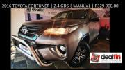 2016 Toyota Fortuner 2.4GD6 Manual